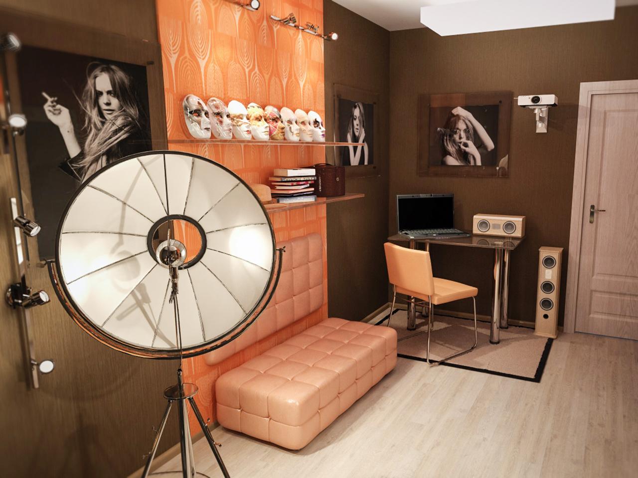 Дизайн интерьера фото-студии для частного фотографа в г. Минске