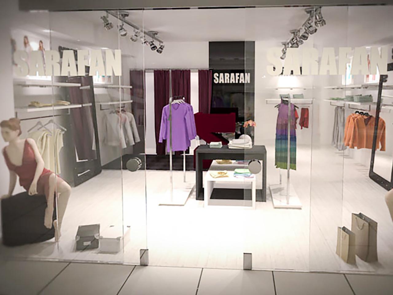 Дизайн интерьера магазина женской одежды в г. Минске