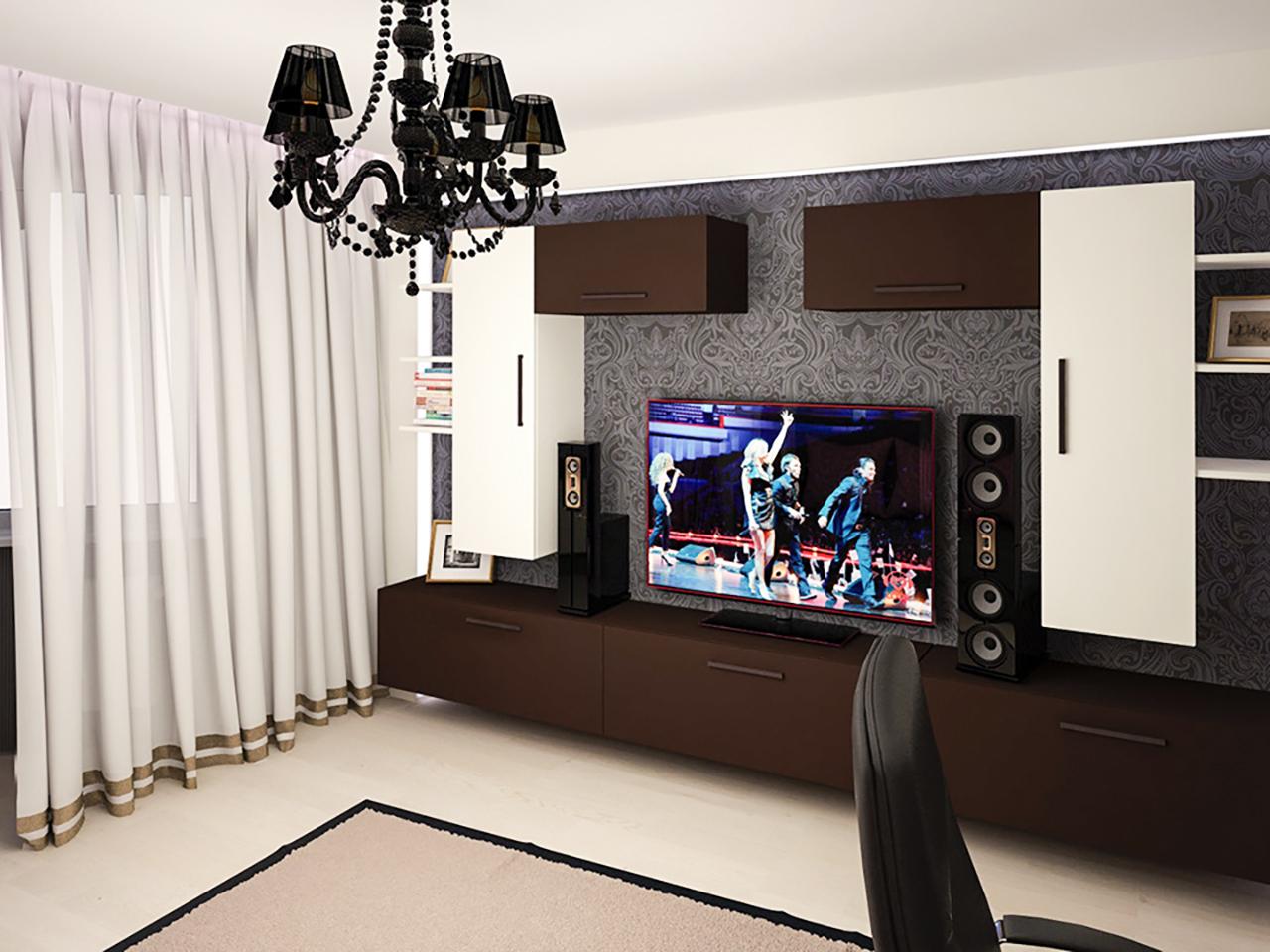 Дизайн интерьера однокомнатной квартиры на ул. Притыцкого, 78