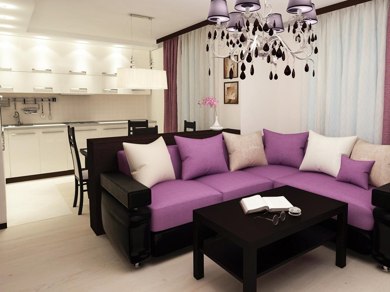 Дизайн интерьера однокомнатной квартиры на ул. Ильянской, 4