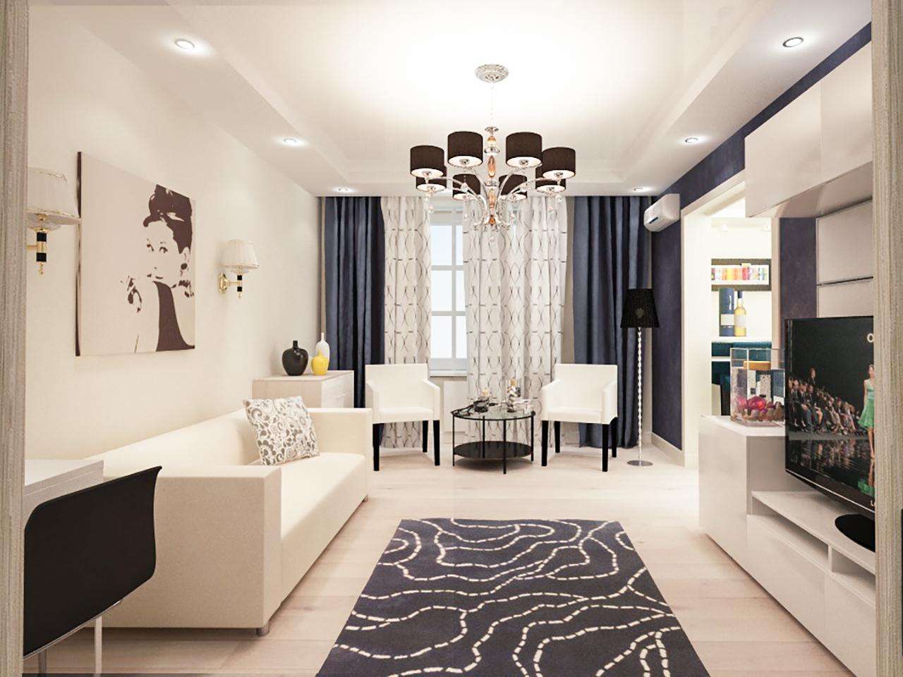 Дизайн интерьера 2-х комнатной квартиры на пр. Независимости, 19
