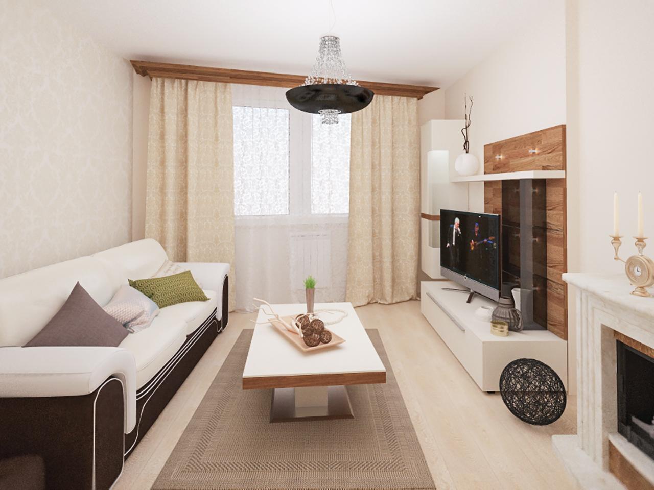 Дизайн интерьера 2-х комнатной квартиры по пр. Дзержинского, 122
