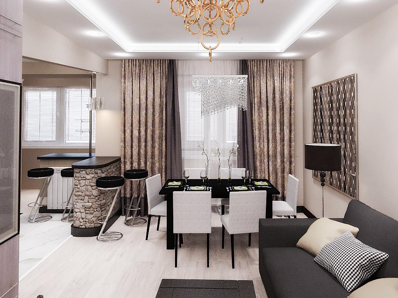 Дизайн интерьера 2-х комнатной квартиры в г. Островец