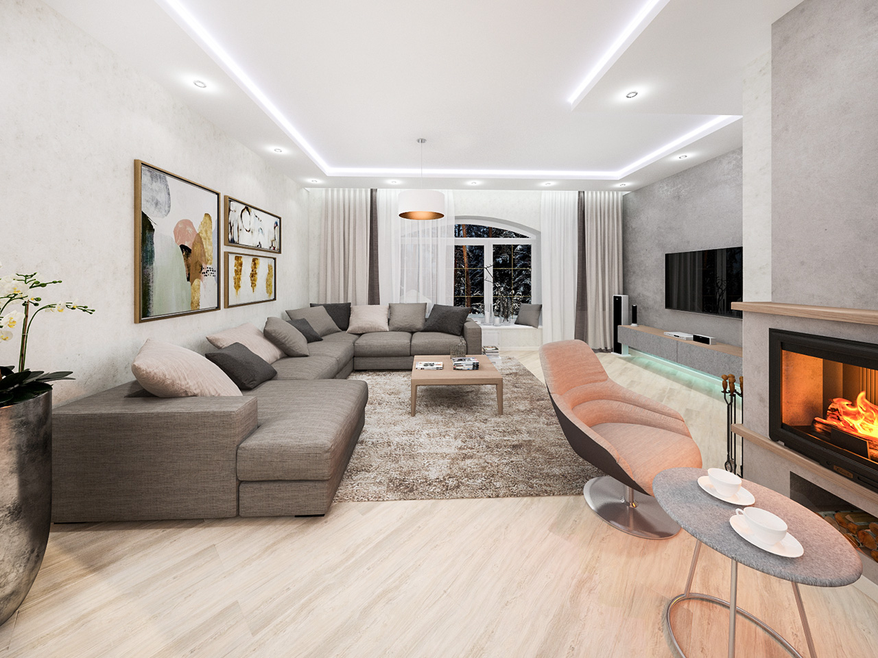 Дизайн интерьера частного дома в д. Бровки, Минский район