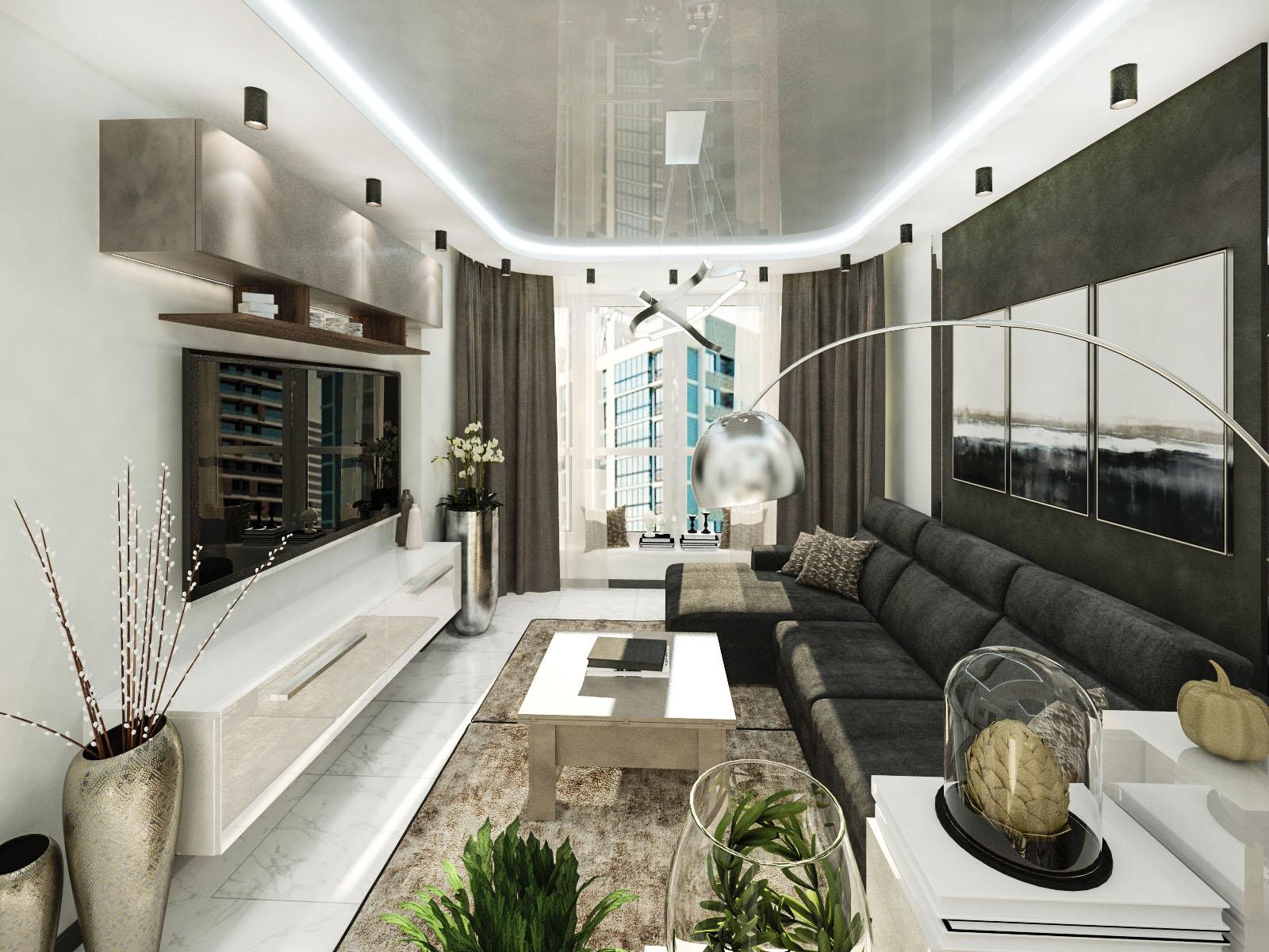 Дизайн интерьера 2-х комнатной квартиры в доме Марина-3 ЖК Минск Мир