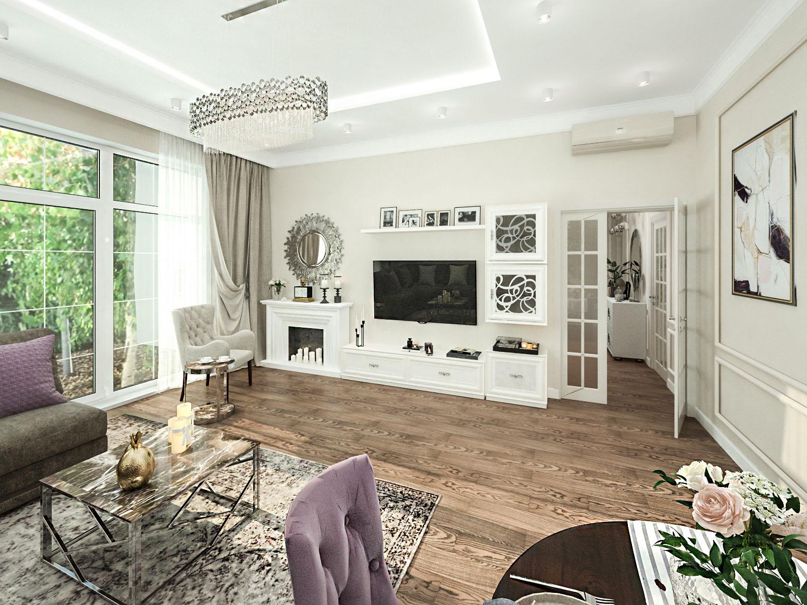 Дизайн интерьера частного дома в д. Крылово, Минский район
