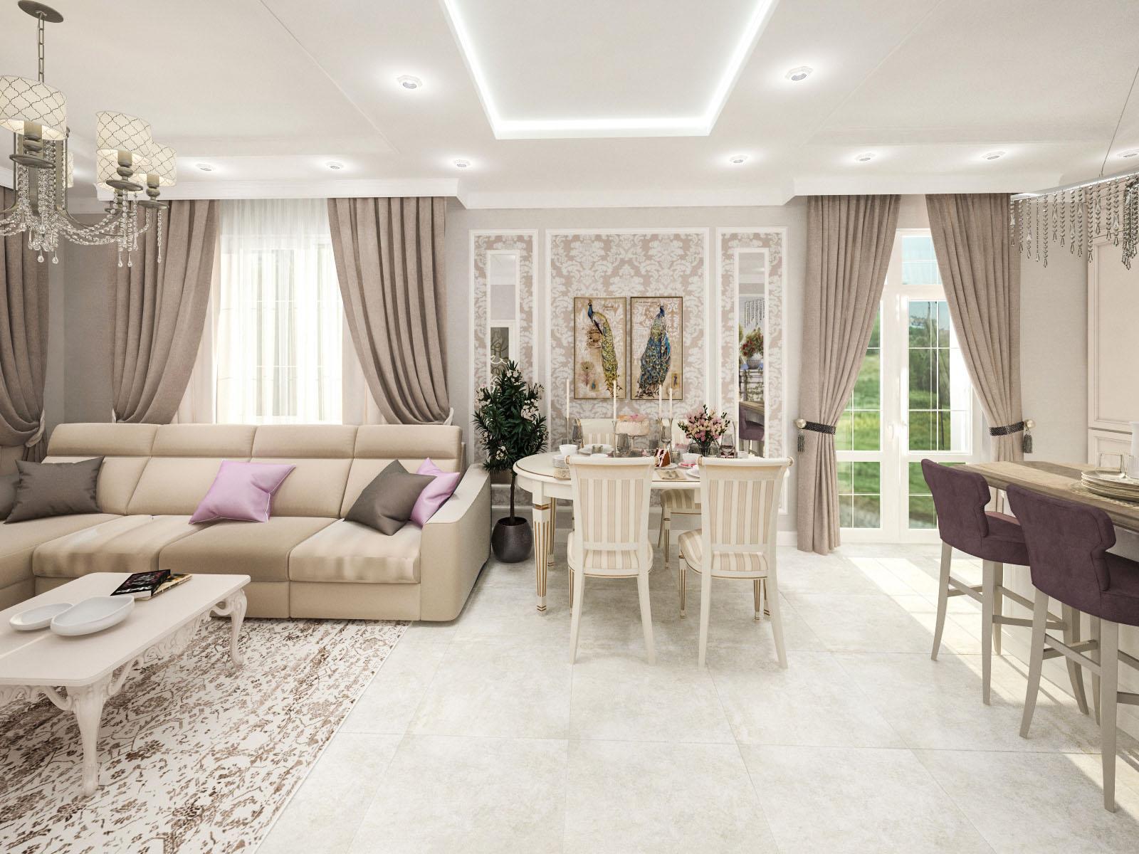 Дизайн интерьера частного дома в Бузуны, Воложинский район