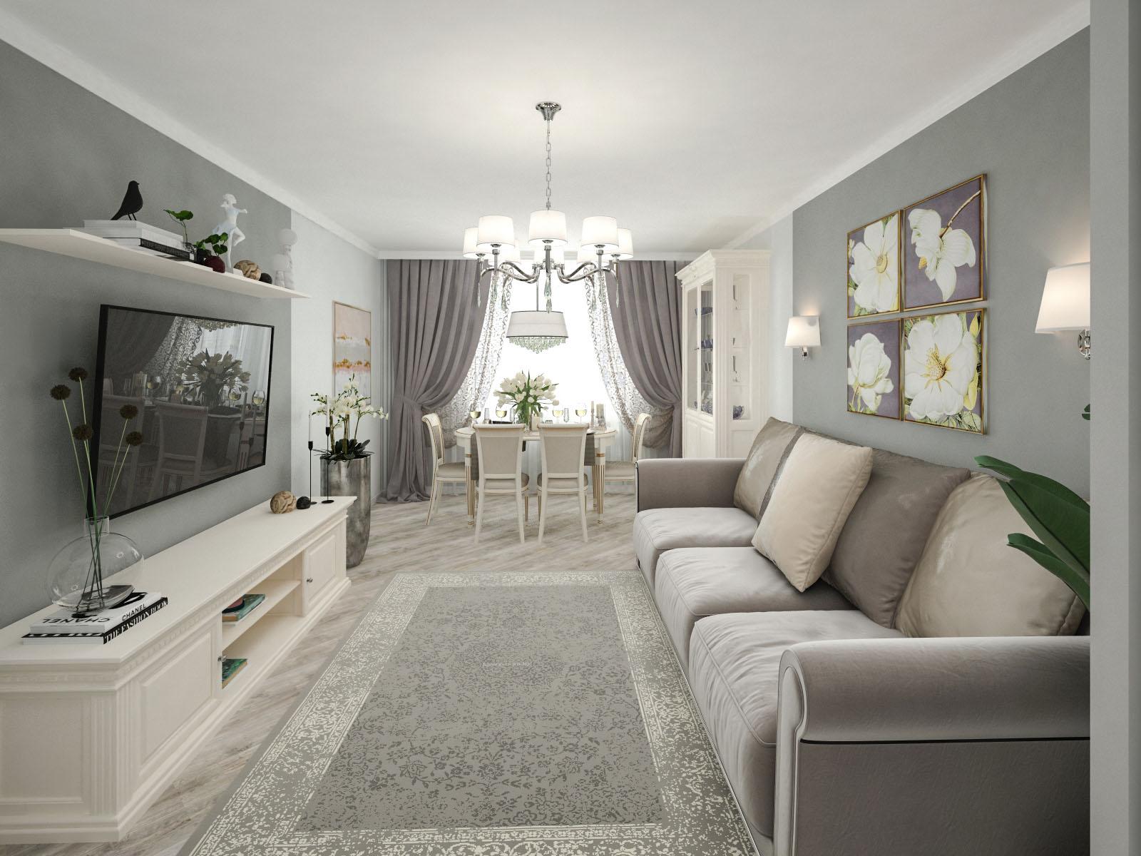 Дизайн интерьера 2-х комнатной квартиры на ул. Янки Брыля, 5