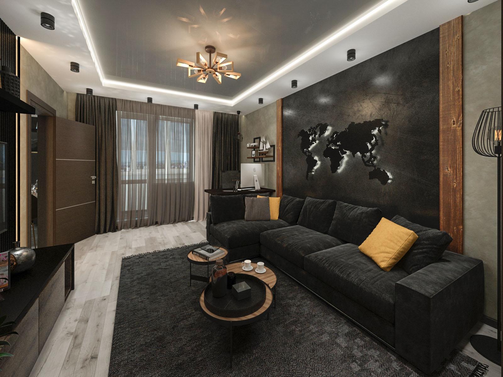 Дизайн интерьера 2-х комнатной квартиры на ул. Колесникова, 30