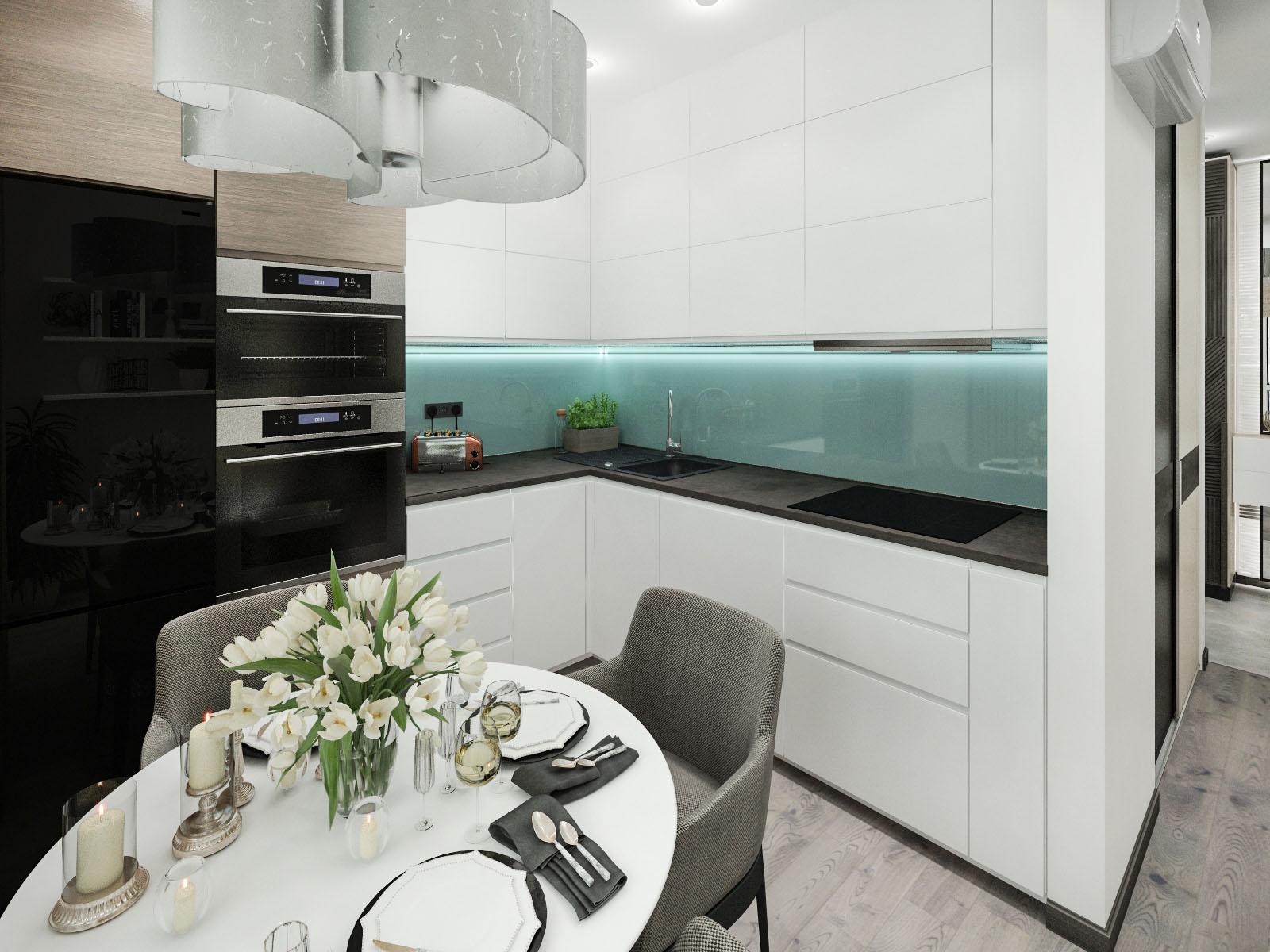 Дизайн интерьера 2-х комнатной квартиры на ул. Мястровская, 17