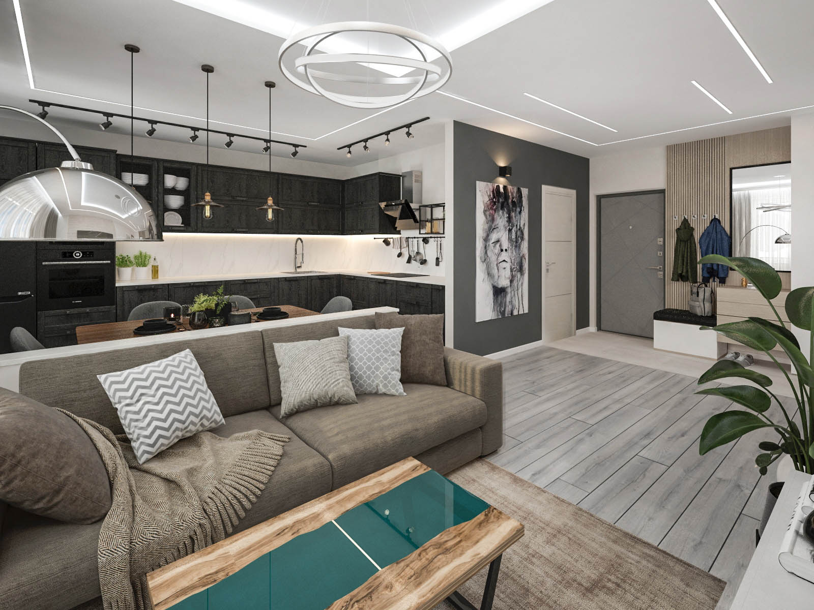 Дизайн интерьера 2-х комнатной квартиры в ЖК Петровщина