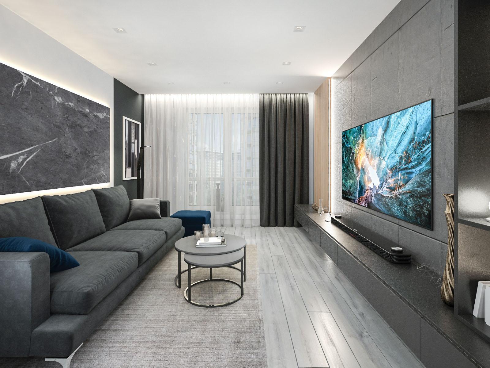Дизайн интерьера 2-х комнатной квартиры 2-й пер. Тимошенко, 7