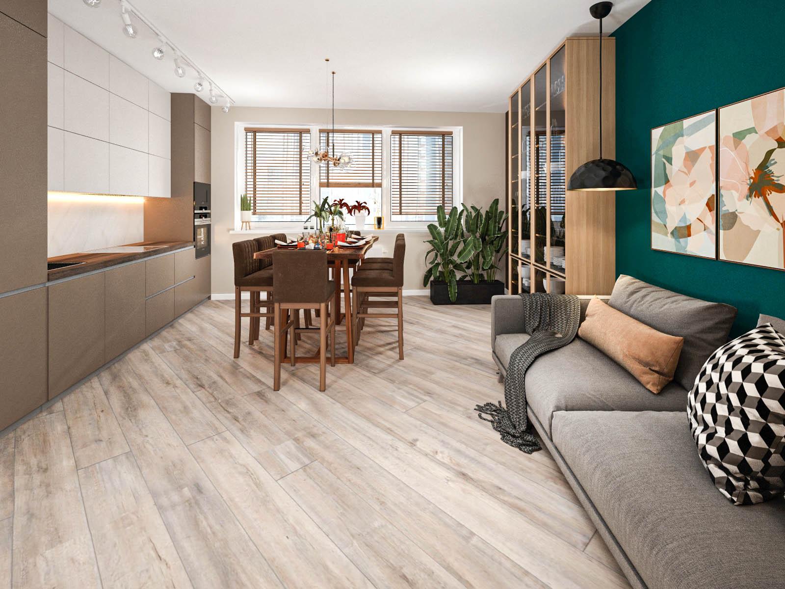 Дизайн интерьера 2-х комнатной квартиры в доме Волна ЖК Минск Мир