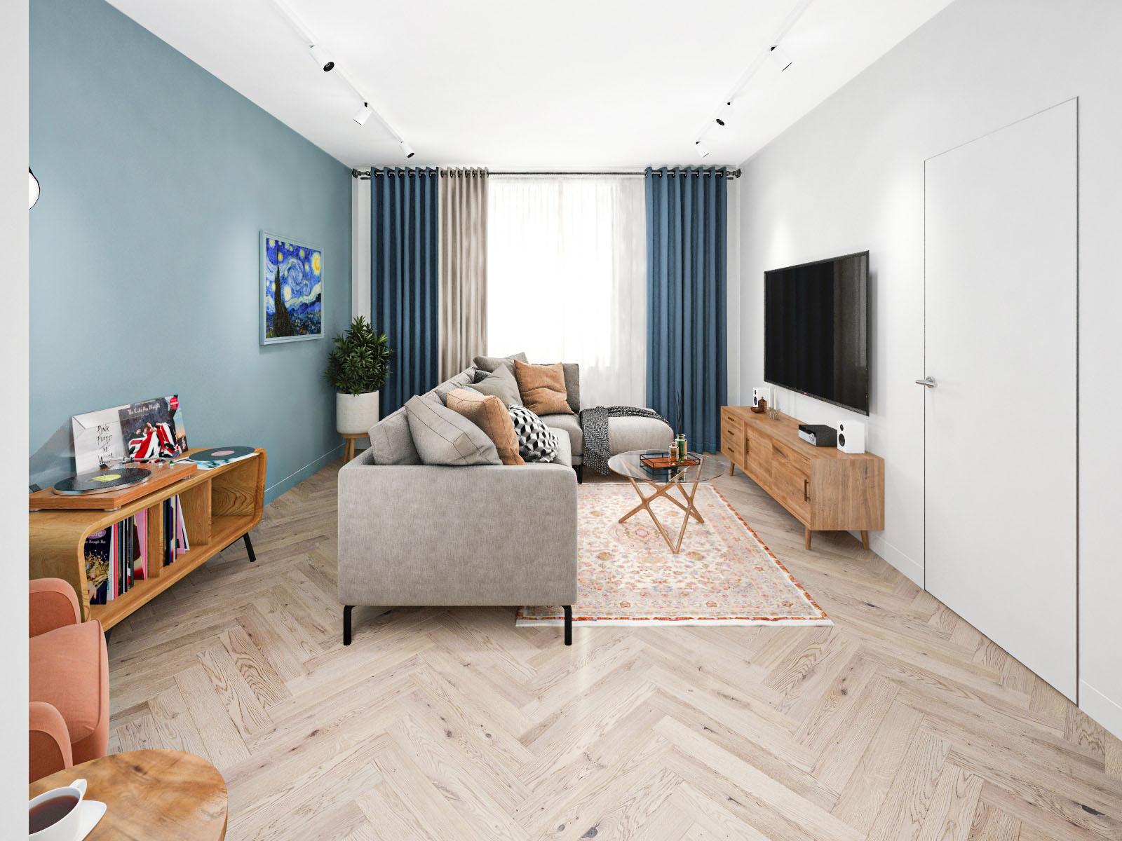 Дизайн интерьера 2-х комнатной квартиры на ул. Я. Коласа, 36